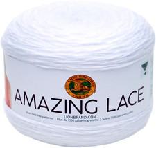 Lion Brand Amazing Lace-Dolly White - $11.96