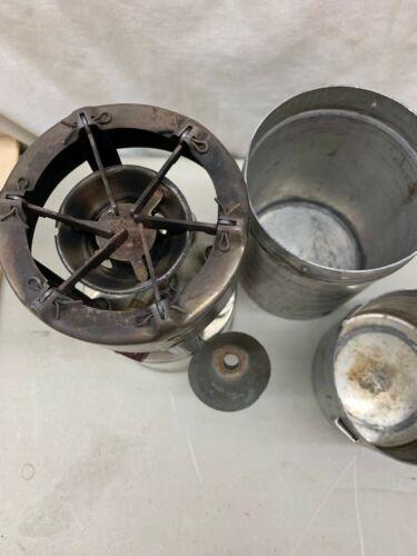 VINTAGE COLEMAN NO.530 G.I. POCKET STOVE B46 DATE CODE ORIGINAL CASE & Funnel