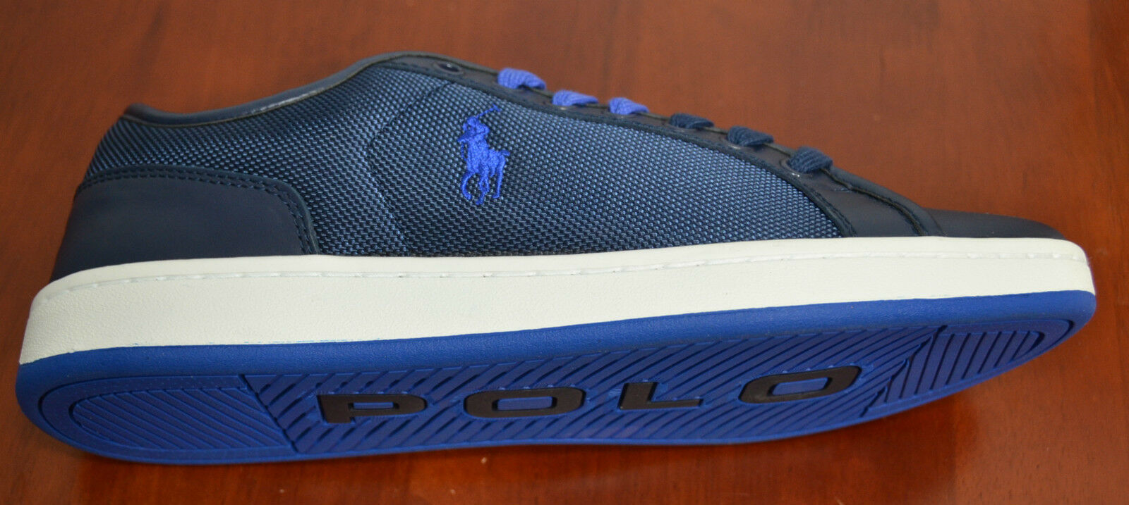 Polo Ralph Lauren Men TREVOSE LOW Sneakers Shoes Navy 10, 10.5
