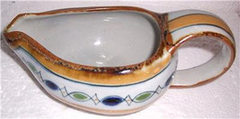 Tonola Handpainted Art Pottery Large Serving Gravy Bowl Mexico Signed ER... - $83.99