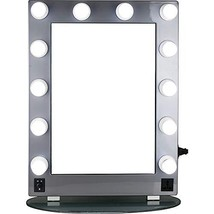 Hiker 12 Led Dimmer Light Pc Body and Glass Base Hollywood Vanity Makeup... - $275.43