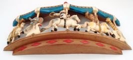 1979 Homco Universal Statuary Circus Animals Carousel Wall Hanging Brass Ring image 7