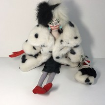 "Disney 101 Dalmatians Villain Plush CRUELLA DE VIL Doll -- 18"" H - $19.79"