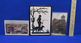 Vintage Minneapolis MN Silhoutte Picture & 2 Post Cards Stamped 1907 & 1909 - $18.76