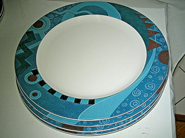 "4-pc set Mikasa Maxima MASQUERADE CAK50 Dinner Plate 10 5/8""  Never Used - $35.99"