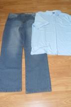MENS JEANS & SHIRT CHEROKEE 38 X 34 KT CLASSIC SHIRT XL NWT - $27.99