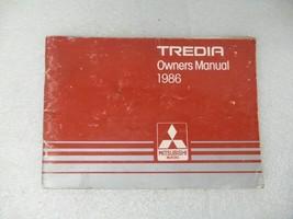 1986 Mitsubishi Tredia Owners Manual 17184 - $13.81