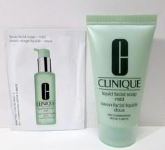 Clinique Liquid Facial Soap Mild Dry Combination Skin 1 oz + Sample Pack... - $8.99