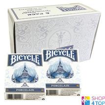 6 DECKS BICYCLE PORCELAIN PLAYING CARDS BLUE WHITE MAGIC TRICKS USPCC NEW - $52.66
