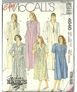 McCall's Sewing Pattern 4646 Misses Womens Loungewear Size XL 22 24 New - $9.99