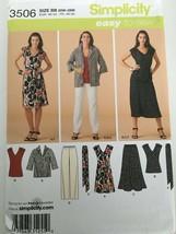 Simplicity Sewing Pattern 3506 Wardrobe Dress Jacket Top Pants Plus Sz 2... - $3.99