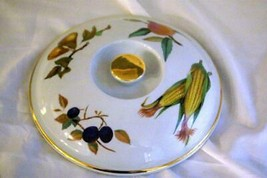 "Royal Worcester 2015 Evesham Gold 9"" Round Lid Only For Entree Dish - $15.74"