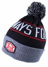 Dirty Ghetto Kids DGK Black Red Grey Always Four-20 Four-Twenty Pom Beanie Hat