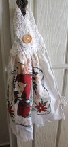 Kitchen Towel with Crocheted Top - Angel Design - $4.00