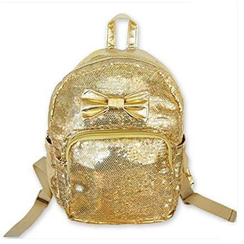 Baby Knapsack Infant Shining Backpack Prevent from Getting Lost(Golden)