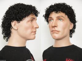 Curly Medium Blonde Grey Brunette Red  Men's Wig - $43.99