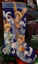 Bucilla Hark the Angels Christmas Music Religious Needlepoint Stocking Kit 84829 - $172.95