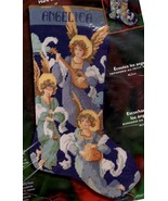 Bucilla Hark the Angels Christmas Music Religious Needlepoint Stocking K... - $172.95