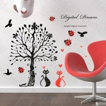 Love Under The Tree - Large Wall Decals Stickers Appliques Home Decor - $7.91