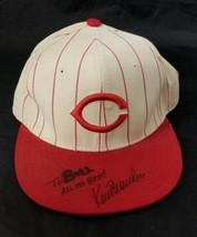 New Era 5950 Cincinnati Reds Baseball Hat 7 White Red 1990s Kent Mercker Auto - $28.95