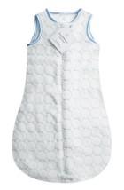 SwaddleDesigns Microfleece Sleeping Sack with 2-Way Zipper, Pastel Blue ... - $35.17