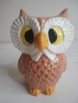 Vintage Ceramic Hobbyist Owl Figurine Planter vase Pen Holder - $16.82
