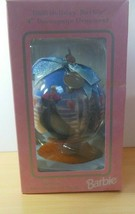 Vintage 1998 Holiday BARBIE DECOUPAGE Ornament NIB Includes Wooden Stand - $34.50