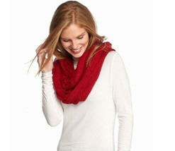 New Cejon Soft Cozy Metallic Gold Ruched Infinity Scarf Women's Loop Red - €11,93 EUR
