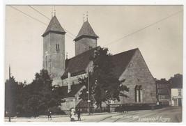 Mariakirken St Mary's Church Bergen Norway 1911 RPPC Real Photo postcard - $11.88