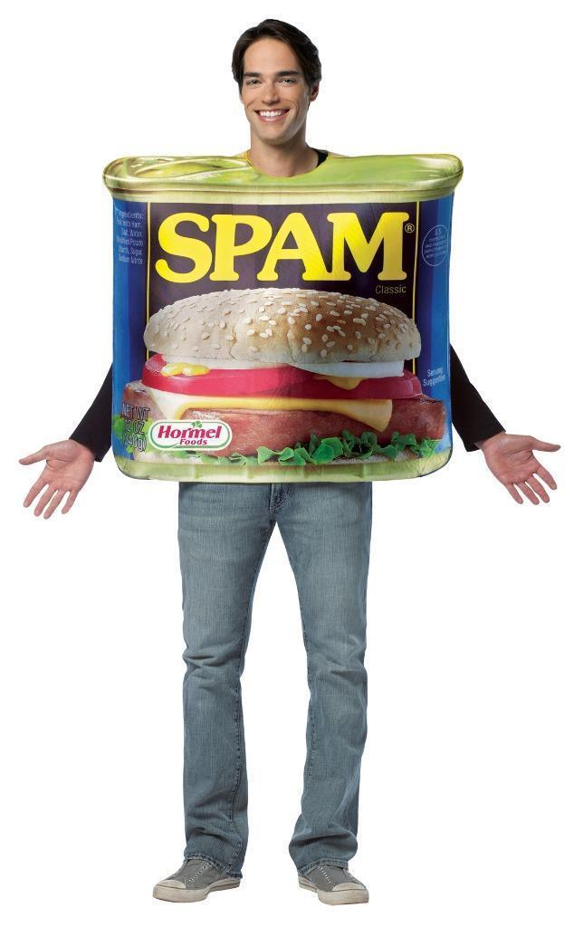 Spam Costume Adult Can Tunic Get Real Men Women Food Halloween Unique GC6809
