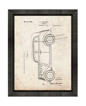Automobile Patent Print Old Look with Beveled Wood Frame - $24.95+