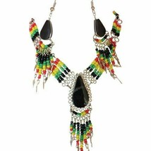 Rasta Multicolor & Multilayered Beaded Necklace Sets - $10.00