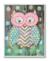 The Kids Room by Stupell Distressed Woodland Owl Rectangle Wall Plaque, ... - $29.37