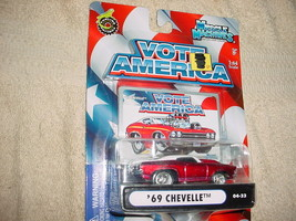 Muscle Machines '69 Chevelle Red 04-33 Vote America Series Free Usa Shipping - $9.49