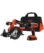 Black & Decker Kit Drill Driver And Circular Sa... - $146.47 CAD