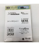 """Stampin' Up! """"Really Good Greetings"""" Rubber Stamp Set #130333 - $7.69"""