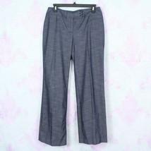 Ann Taylor LOFT 6 Dark Wash Dressy Denim Julie Wide Leg Stretch Dress Pa... - $24.74