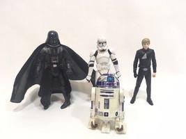 Star Wars Jedi Knight Luke Skywalker Darth Vader Stormtrooper Figure 200... - $9.89