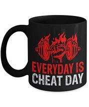 PixiDoodle Foodie Fitness Coach Exercise Coffee Mug (11 oz, Black) - $20.89