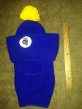 Vintage Los Angeles Rams  blue yellow  Eski Cap Beanie Eskimo Hat Adult ... - $48.51