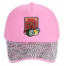 Bingo Hat - Adjustable Women's Cap (Rhinestone Pink) - $18.95