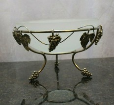Vintage Godinger grape design with frosted fruit insert bowl grape footed base - $29.10