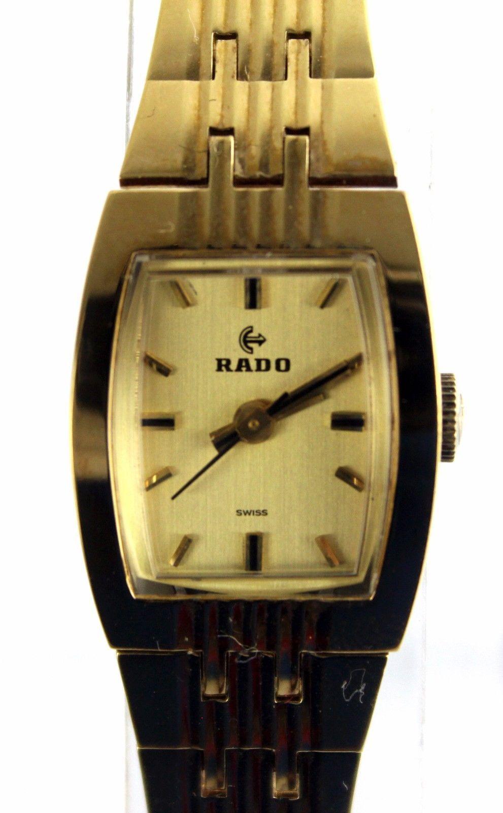100% Auth Rado Very rare Ladies Watch Quartz Beige Dial SS Belt RADO Used 615/G - $373.29