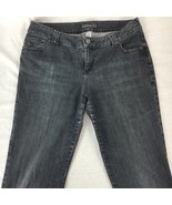 Venezia Lane Bryant Jeans Straight Leg Cotton Stretch Faded Black Plus S... - $29.85