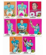 1969 Topps Miami Dolphins Team Set with Bob Griese and Nick Buoniconti, ... - $33.05
