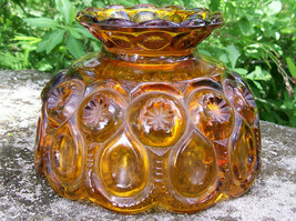 Vintage Moon & Star Fairy/Candle Lamp Shade Only Amber L.E. Smith - $24.00