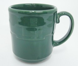 Longaberger Pottery Woven Traditions Ivy Green Mug 12 oz Made in USA - $12.86