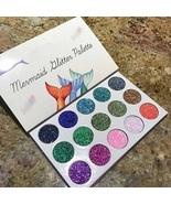 15 color mermaid sequins eye shadow palette natural luster matte eye sha... - $24.70