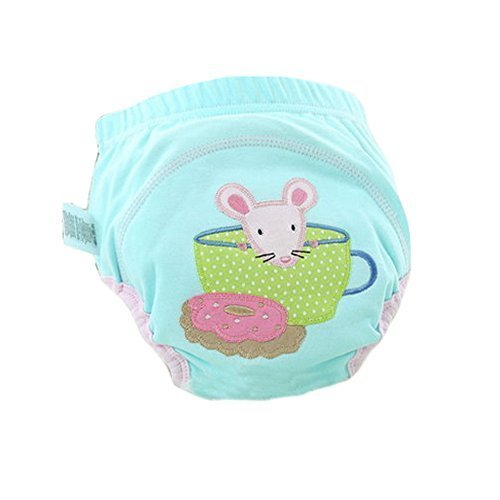 Lovely Cartoon Animal Pattern Baby Elastic Cloth Diaper Cover (M,9-11KG,Mouse)