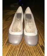 Giani Bernini 9M Comfort Flats Taupe Two Tone leather block heel - $14.85